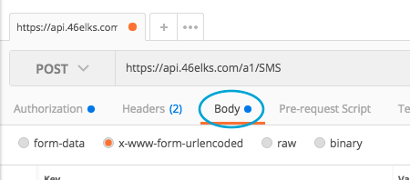click body in postman